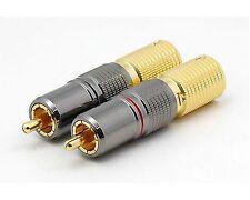 2xCinchstecker CS-1023 bis 12 mm Kabel
