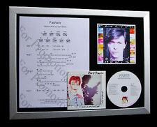 DAVID BOWIE Fashion LTD MUSIC CD GALLERY QUALITY FRAMED DISPLAY+FAST GLOBAL SHIP