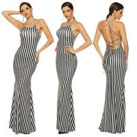 Women Sexy Long Party Canonicals Beach Sleeveless Maxi Tank Summer Dress