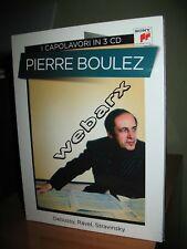 I CAPOLAVORI IN 3 CD PIERRE BOULEZ COFANETTO NUOVO SIGILLATO