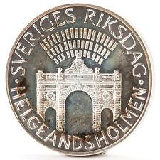 100 corone argento moneta Svezia Parlamento SILVER COIN Sweden Parliament 1983
