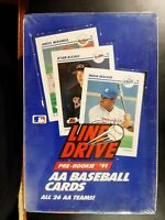 1991 Impel Line Drive AA Baseball Wax Pack Box Rookie FACTORY SEALED 36 packs
