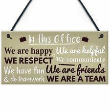 Office Funny Gift for Colleague Wall Plaques Door Signs Colleagues Friendship