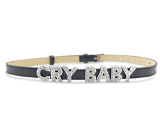 Cry Baby Choker Necklace - Leather Collar Accessory Kawaii Little DDLG One