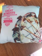 """"""" Life's Full Of GREAT MONENT"""" Hallmark Glow Pillow 9 x 9 Inches NWT Great Gift"""