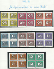 """1985/89; Postage-Due-Stamps """"Nachporto"""" block of four complete set; MNH"""