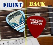 Volkswagen VW Bus Van Mini-Bus Peace Sign Set of 3 premium Promo Guitar Pick Pic