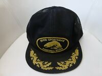 River Sportsman Cap Hat Snapback Mesh Black Fishing Dad Hat Victory Caps Vtg