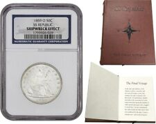 SS Republic Shipwreck: 1859-O 50c NGC Shipwreck Effect (With Book & COA)