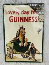 """Lovely day for a Guinness Metal Tin Sign Large 12"""" x 8"""" inches Gilroy poster ad"""