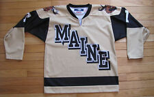 Maine Moose MEAHA EJEPL Pop Tops Pro Hockey Jersey Uniform #7 Johnson 38 YouthXL