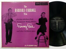 BARBARA CARROLL Funny Face GERSHWIN Album LP Verve 2063 jazz 1st press  #1424