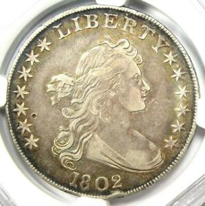 1802 Draped Bust Silver Dollar $1 Coin BB-241 - Certified NGC XF Details (EF)