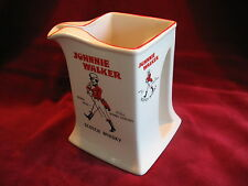 VINTAGE JOHNNIE WALKER WHISKY JUG WATER PUB WADE REGICOR 1953 RED RIM MINT