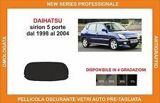 pellicola oscurante vetri dahiatsu sirion 5p dal 1998-2004 kit lunotto