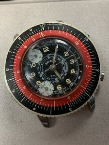 Vintage Nelson Sport Swiss Chronograph Wristwatch for Repair Not Working!