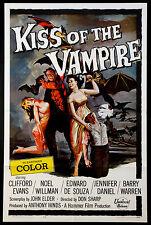 KISS OF THE VAMPIRE HAMMER HORROR 1963 1-SHEET MOVIE POSTER