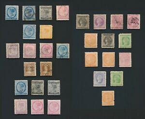 PRINCE EDWARD ISLAND STAMPS 1862-1872 PEI QV INC SG #19/20 9d SHADES