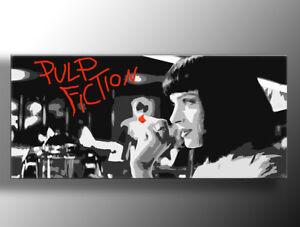 QUADRIO PULP FICTION realizzato a mano pop art italia DIPINTO A MANO CON TELAIO