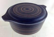 Vintage Terra Pyrex Striped Covered Casserole1964-65 1 1/2 pt