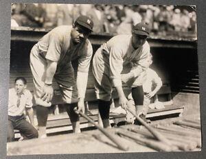 Lou Gehrig Babe Ruth 1927 World's Series Game- Original Press Image