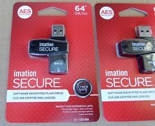 Genuine IMATION SECURE Software Encrypted 64GB USB Flash Drive
