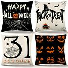 Halloween Pillow Covers 1818 Inch Set of 4 Trick or Treat Pillow Covers Holiday