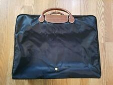 Longchamp Le Pliage Black Travel Weekender Suitcase Made in France