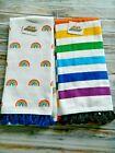 Rainbow Kitchen Towels Stripes True Colors Pride Hand Dishcloths LGBTQ Set/2 New