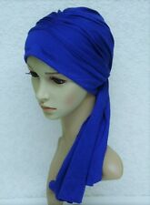 Chemo head wear, turban snood with ties, chemo head scarf, full head covering