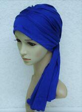 Chemo head wear, turban snood with ties, chemo head scarf, full head covering