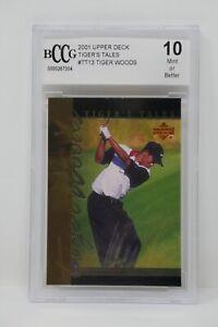2001 Upper Deck Tiger's Tales #TT13 Tiger Woods Rookie BCCG 10 MINT OR BETTER