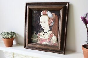 Early 20th Century Framed Embroidery Of Marie De Bourgogne