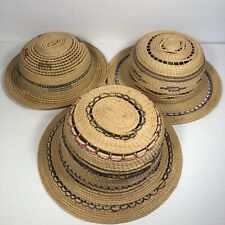 Lot of 3 Hand Woven Hats For Wall Decor Basket Style