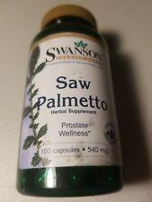 SAW PALMETTO SWANSON 100 CAPSULES  540mg  MEN WOMEN