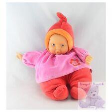 9447 - Doudou bébé poupée Baby Pouce rouge rose COROLLE 2006 - Security blanket