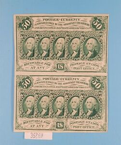 WPCoins ~ Fractional Currency 50 Cent Notes Fifth Issue FR-1380 Not Cut (2)