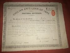 CHILIAN £4.5% LOAN of 1893 fractional certificate