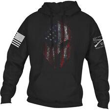 Ворчун стиль Спартанец 2.0 пуловер толстовка с капюшоном-черный