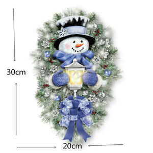Christmas Window Stickers Xmas Self Adhesive Wall Decals Shop Home Decor Snowman