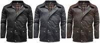 Mens Game Barker Wax Jacket with Detachable Hood | Premium Antique Waxed Cotton