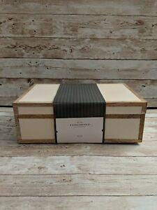 "🆕 Studio McGee Threshold 10"" x 6.5"" Wood Trim Resin Inlay Decorative Box Large"