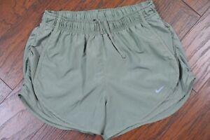 Nike Dri-Fit Tempo Lined Shorts Lt Olive Women's Medium M