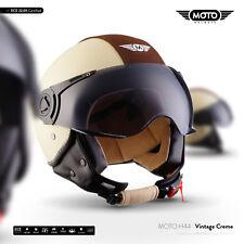 Jet-Helm Vespa-Helm Roller-Helm Motorrad-Helm / MOTO H44 Vintage C. XS S M L XL