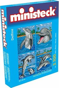 Ministeck Pixel Puzzle (32772): Dolphins (4in1) 3100 pieces