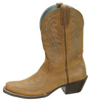 Ariat Womens Legend Western Cowboy Boot Size 7.5B Brown Leather Square Toe