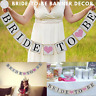 Bride To Be Banner, Wedding Bridal Shower Bachelorette Party Bunting Hang Decor