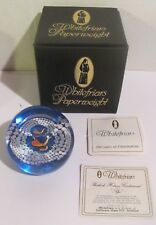 """COLLECTIBLE WHITEFRIARS PAPERWEIGHT """"SHERLOCK HOLMES CENTENNIAL PIPE"""""""