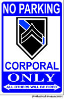 """United Coast Guard Parking Only Aluminum Sign 8/"""" X 12/"""""""