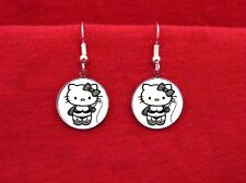 HELLO DOMINATRIX KITTY WHIP CAT LINGERIE EARRINGS